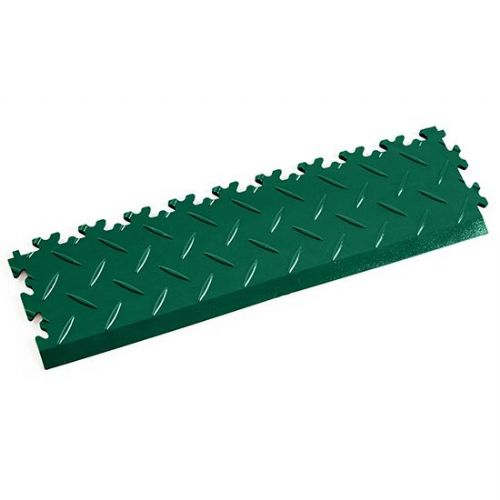 Green Diamond Plate - Interlocking Tile Edging